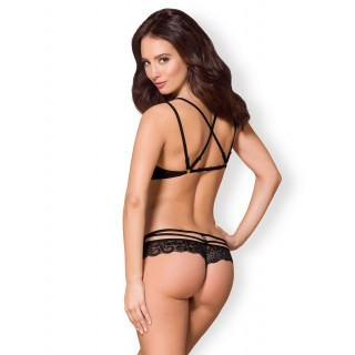 Obsessive - 2 Piece 860-SET-1 Black S/M