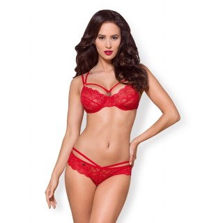 Obsessive - 2 Piece 860-SET-3 Red S/M