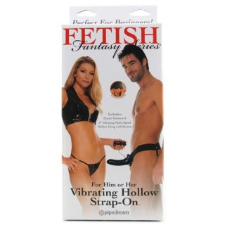 Fetish Fantasy - Vibrating Hollow Strap-On