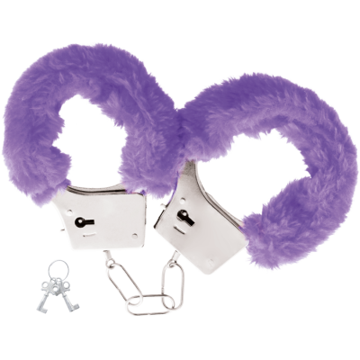 Darkness - Pleasure Furry Handcuffs Purple
