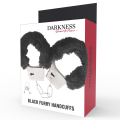 Darkness - Pleasure Furry Handcuffs Black