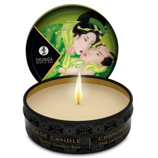 Shunga - Mini Caress By Candlelight Massage Candle Exotic Green Tea