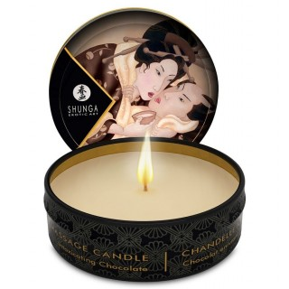 Shunga - Mini Caress By Candlelight Massage Candle Heady Chocolate
